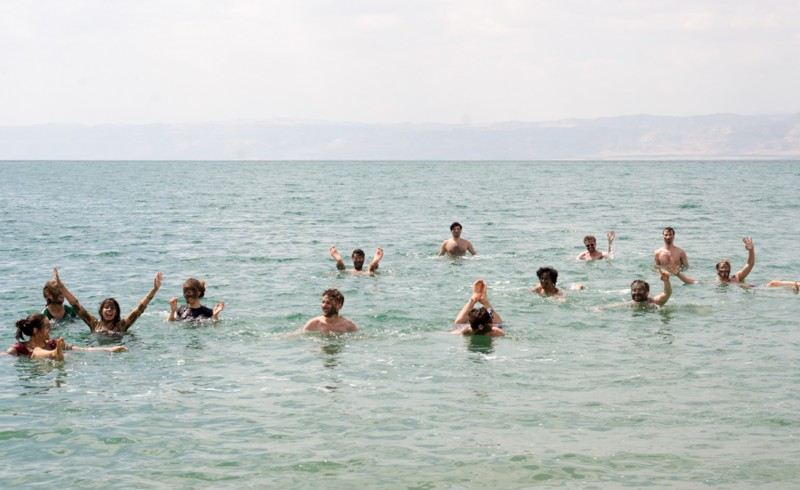 Cooling off in the Dead Sea